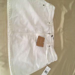 NWT AG Adriano White Mini Skirt 31
